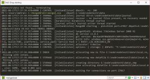 MongoDB Wating for connection